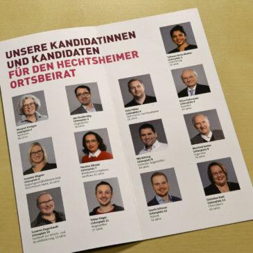 Kandidatinnen und Kandidaten für den Ortsbeirat