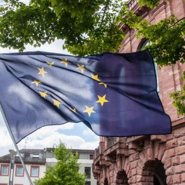 Europafahne in Mainz